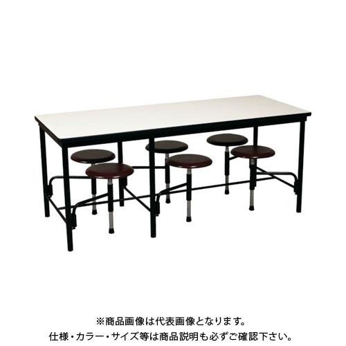【直送品】 ニシキ 食堂テーブル 6人掛 ブラウン STM1875BR