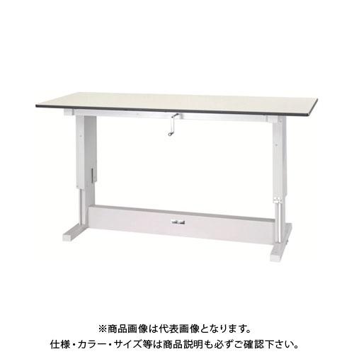 【直送品】 ヤマテック ワークテーブル昇降タイプ メラミン天板 W1200×D750 SSM-1275N-IP