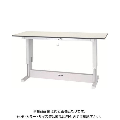 【直送品】 ヤマテック ワークテーブル昇降タイプ ポリエステル天板 W1800×D750 SSP-1875N-IP