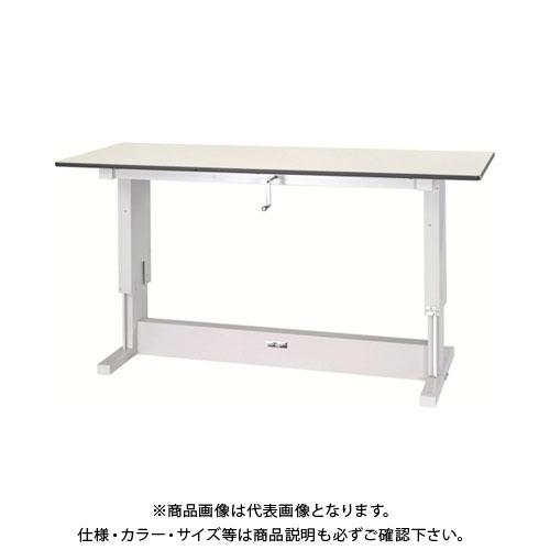 【直送品】 ヤマテック ワークテーブル昇降タイプ リノリューム天板 W1800×D750 SSR-1875N-IP
