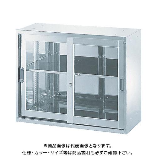 【直送品】 TRUSCO ステンレス保管庫(D400) 枠付ガラス扉 900XH720 STJ4-7