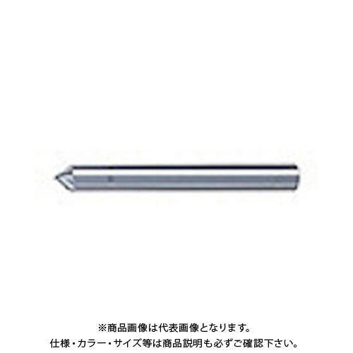ユニオンツール 超硬エンドミル テーパ φ0.8×刃長1.6X片角45° SV2040