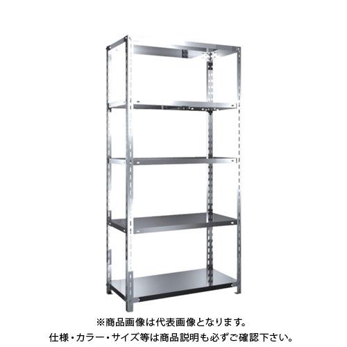 【直送品】 TRUSCO SUS430製軽量棚 875XD450XH1800 天地5段 SU4-6345