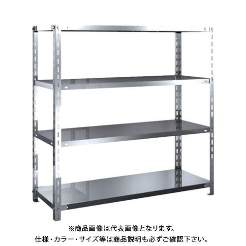 【直送品】 TRUSCO SUS430製軽量棚 1200XD450XH1200 天地4段 SU4-4444