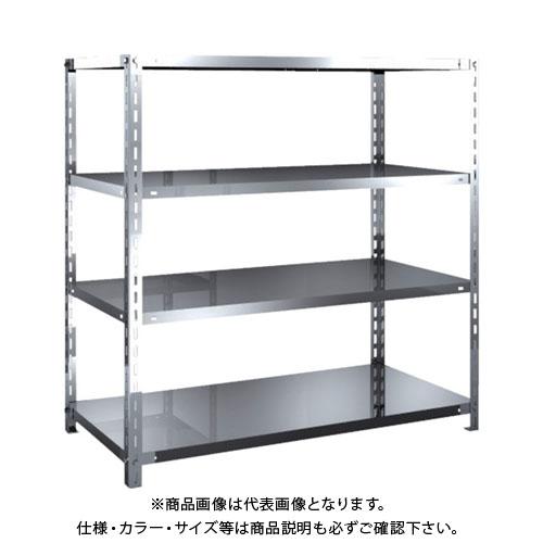 【運賃見積り】【直送品】 TRUSCO SUS430製軽量棚 1200XD600XH1200 天地4段 SU4-4464