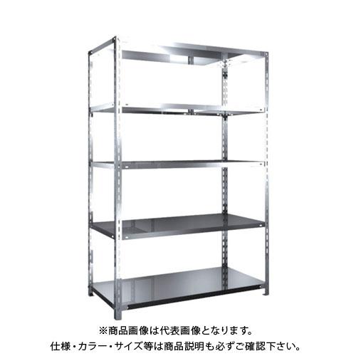 【運賃見積り】【直送品】 TRUSCO SUS430製軽量棚 1200XD600XH1800 天地5段 SU4-6465