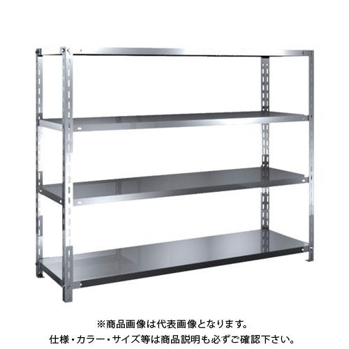 【運賃見積り】【直送品】 TRUSCO SUS430製軽量棚 1500XD450XH1200 天地4段 SU4-4544