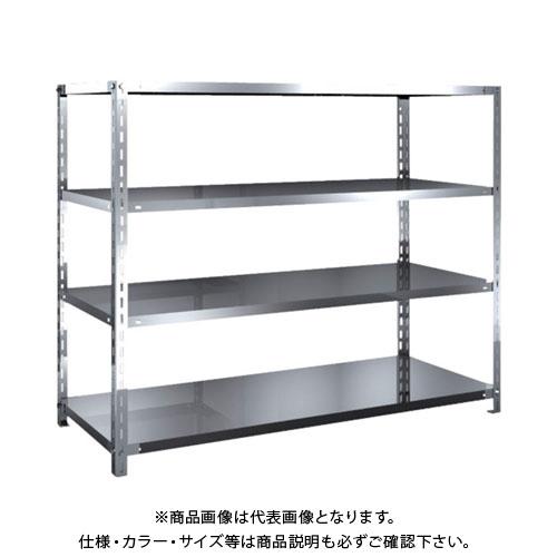 【直送品】 TRUSCO SUS430製軽量棚 1500XD600XH1200 天地4段 SU4-4564
