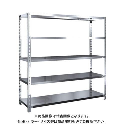 【直送品】 TRUSCO SUS430製軽量棚 1500XD450XH1500 天地5段 SU4-5545