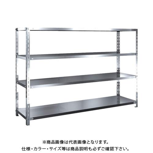 【直送品】 TRUSCO SUS430製軽量棚 1800XD450XH1200 天地4段 SU4-4644