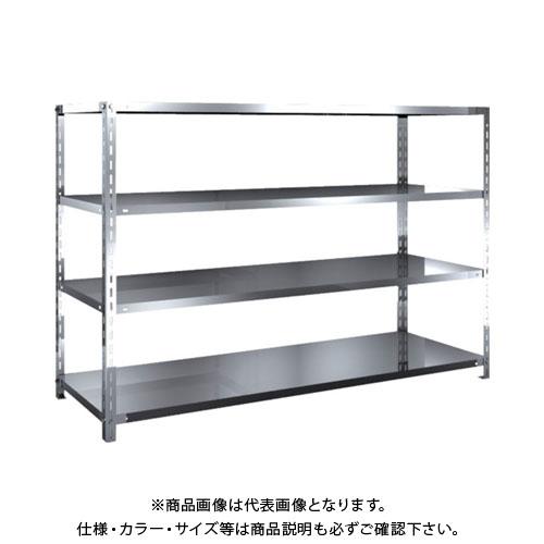 【直送品】 TRUSCO SUS430製軽量棚 1800XD600XH1200 天地4段 SU4-4664