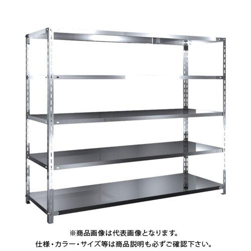 【直送品】 TRUSCO SUS430製軽量棚 1800XD600XH1500 天地5段 SU4-5665