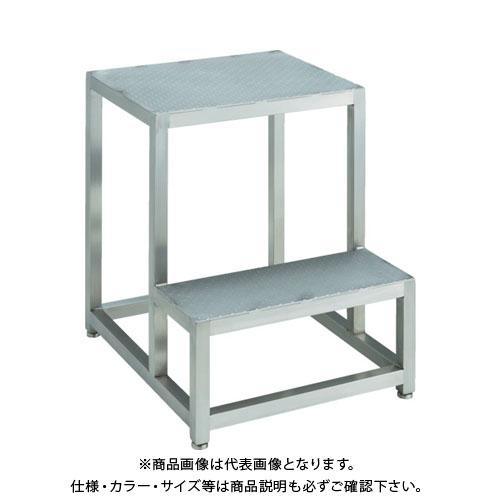 【直送品】 TRUSCO ステンレスステップ 2段式 天板サイズ500X400XH600 SUF-5460