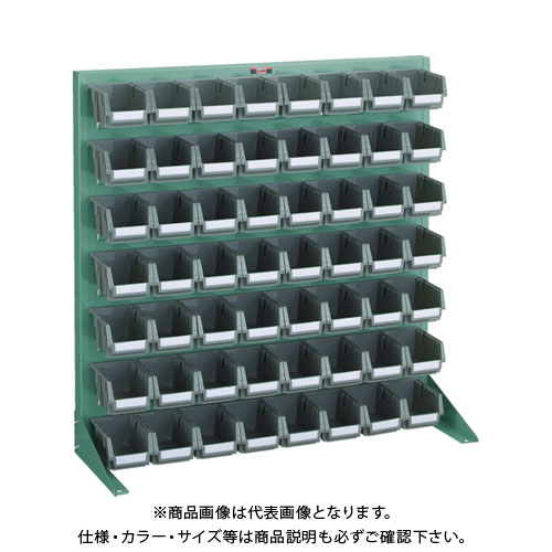【個別送料1000円】【直送品】 TRUSCO パネルコンテナラック 卓上型 コンテナ小X56 緑 T-0978N:GN