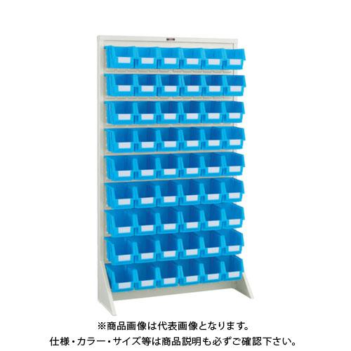 【個別送料1000円】【直送品】 TRUSCO パネルコンテナラック 床置型 コンテナ中X54 ネオグレー T-1696N:NG