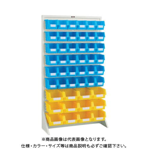 【個別送料1000円】【直送品】 TRUSCO パネルコンテナラック 床置型 コンテナ中X36 大X12 ネオグレー T-1636N:NG