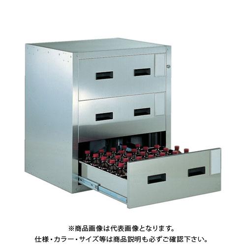 【運賃見積り】【直送品】 TRUSCO 耐震薬品庫 705X600XH800 3段引出型 SYW-3