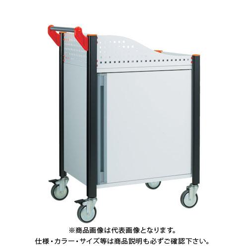 【直送品】 TRUSCO カスタムワゴン キャビネット付 ホワイト TAC-648TR-W