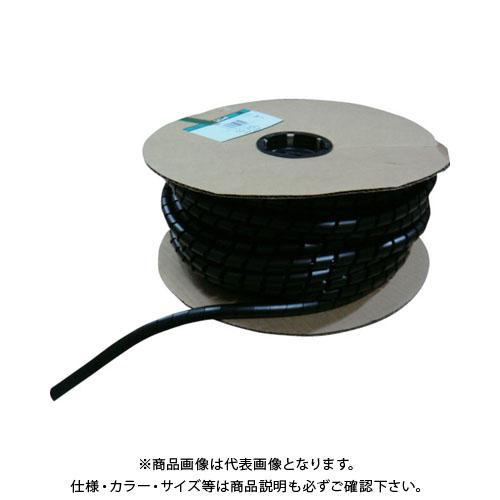 パンドウイット スパイラルラッピング 耐候性ナイロン66 黒 T75N-C0