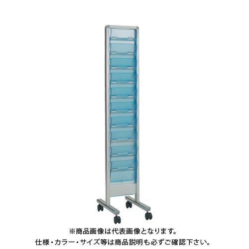 【運賃見積り】【直送品】 TRUSCO パンフレットスタンド A4サイズ対応 垂直1列10段 TAP-110S