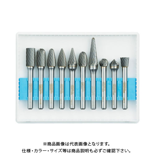 TRUSCO 超硬バーセットCシリーズ 軸6mm 刃径9.5mm 10本セット TB-C095-10S