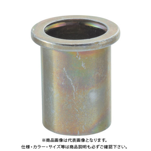 TRUSCO クリンプナット平頭スチール 板厚1.5 M4X0.7 1000個入 TBN-4M15S-C