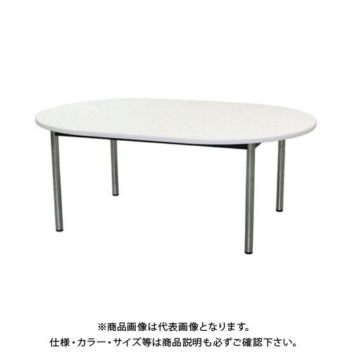【直送品】 TOKIO ミーティングテーブル 楕円型 1800×1200mm ホワイト TC-1812R-W