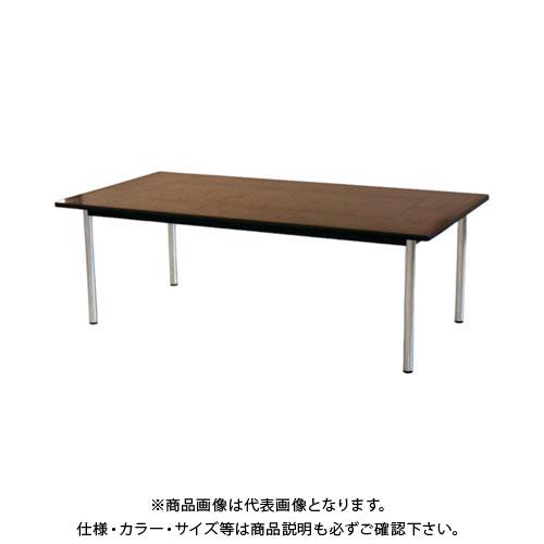 【直送品】 TOKIO ミーティングテーブル 角型 2100×1050mm ローズ TC-2105:RO