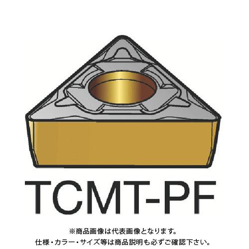 サンドビック コロターン107 旋削用ポジ・チップ 1515 10個 TCMT 11 03 04-PF:1515