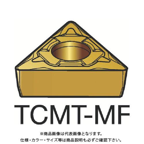 サンドビック コロターン107 旋削用ポジ・チップ 1125 10個 TCMT 16 T3 04-MF:1125