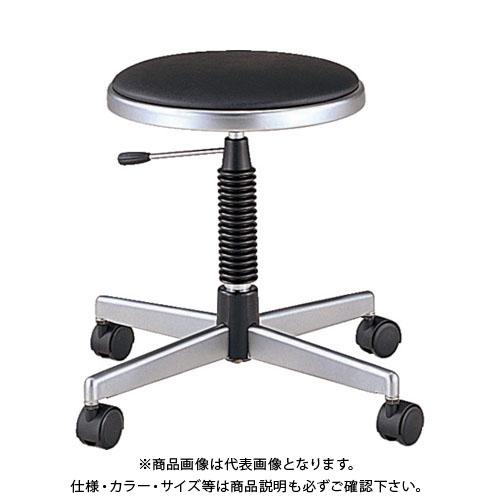 【運賃見積り】【直送品】 ノーリツ 導電作業チェア 導電ビニールレザー 黒 TD-E24:BK