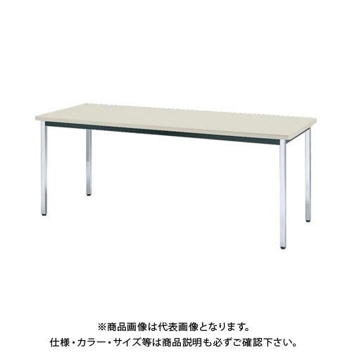 【直送品】 TRUSCO 会議用テーブル 1800X600X700 角脚 下棚無し ネオグレー TDS-1860:NG