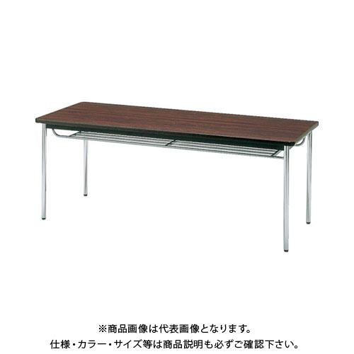 【直送品】 TRUSCO 会議用テーブル 1800X750XH700 丸脚 ローズ TDS-1875T:RO