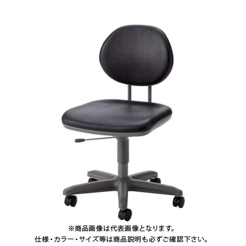 【運賃見積り】【直送品】 ノーリツ 導電オフィスチェア 導電ビニールレザー 肘なし 黒 TE-EL6L:BK