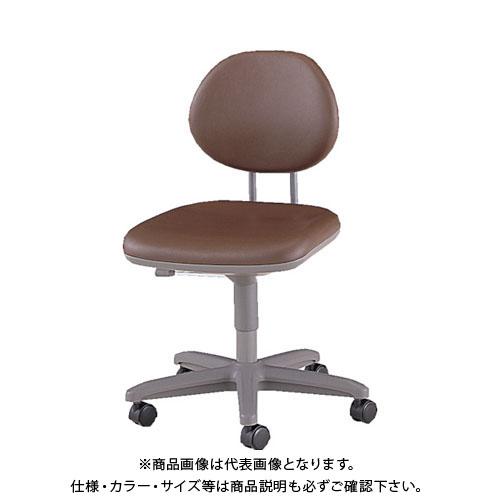 【直送品】 ノーリツ 導電オフィスチェア 導電ビニールレザー 肘なし ダークブラウン TE-EL6L:DBR