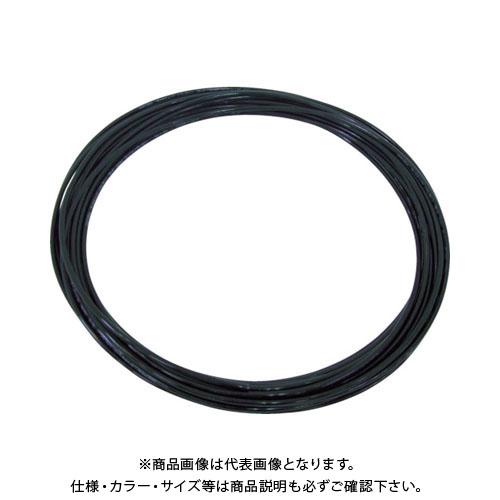 チヨダ TEタッチチューブ 12mm/100m 黒 TE-12-100 BK