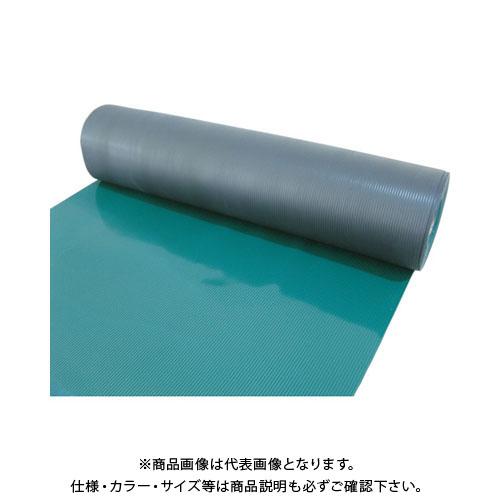 【運賃見積り】【直送品】 TRUSCO 塩ビマット B山 グリーン 1.5mmX915mmX20m TEBM-920-GN