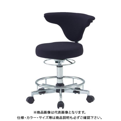 【運賃見積り】【直送品】 TRUSCO ワーキングチェア 380XH460ー590 黒 TFDC-500:BK