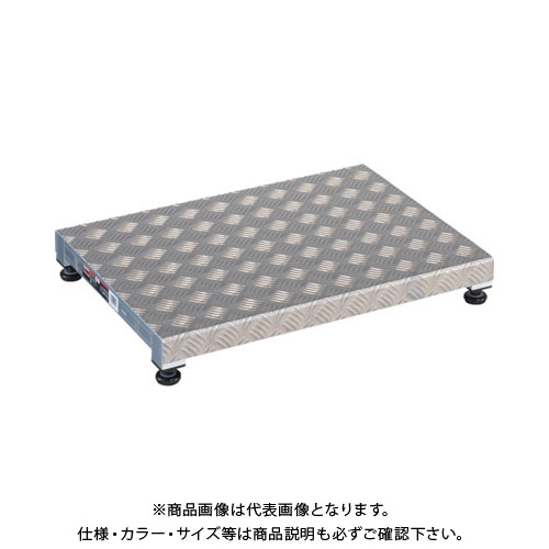 【個別送料1000円】【直送品】TRUSCO 低床用アルミ製ステップ 600X450XH90~120 TFS-0645AL