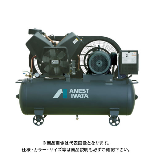 【直送品】アネスト岩田 レシプロコンプレッサ(タンクマウント・オイルフリータイプ)60Hz TFP55CF-10M6