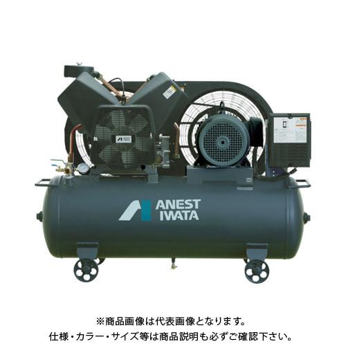 【直送品】アネスト岩田 レシプロコンプレッサ(タンクマウント・オイルフリータイプ)60Hz TFP75CF-10M6
