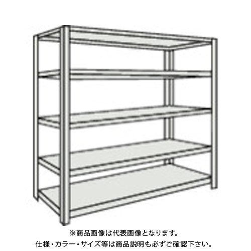 【直送品】 TRUSCO 軽量150型ボルトレス棚 1500X450XH1800 5段 TLA65S-15