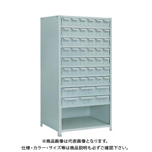 【直送品】 TRUSCO 軽量150型背引出付棚 900X300XH1800 実段10 TLA63K-711