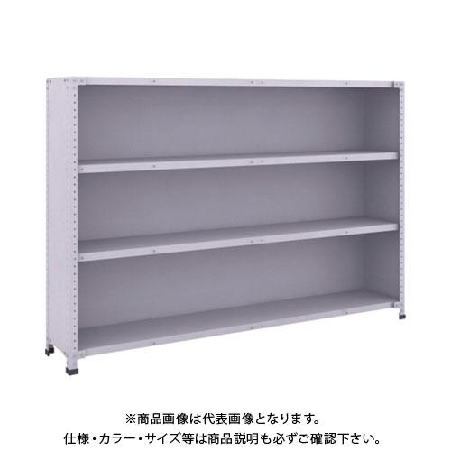 【直送品】 TRUSCO 軽量150型背側板付棚 1800X300XH1200 4段 TLA46K-24