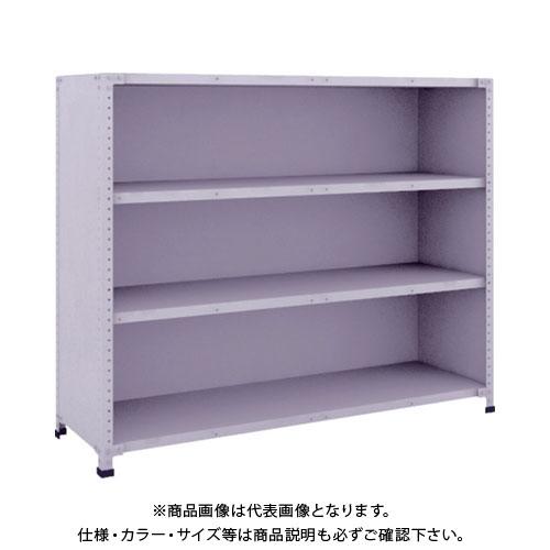 【直送品】 TRUSCO 軽量150型背側板付棚 1500X450XH1200 4段 TLA45S-24