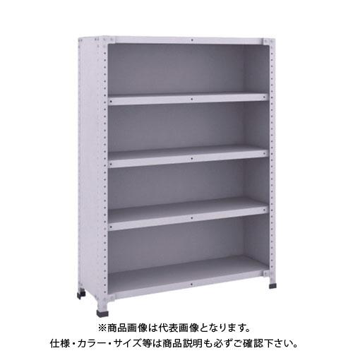 【直送品】 TRUSCO 軽量150型背側板付棚 900X300XH1200 5段 TLA43K-25