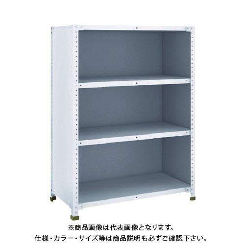 【直送品】 TRUSCO 軽量150型背側板付棚 900X450XH1200 4段 TLA43S-24