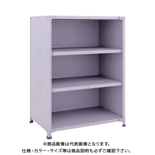 【直送品】 TRUSCO 軽量150型背側板付棚 900X600XH1200 4段 TLA43L-24