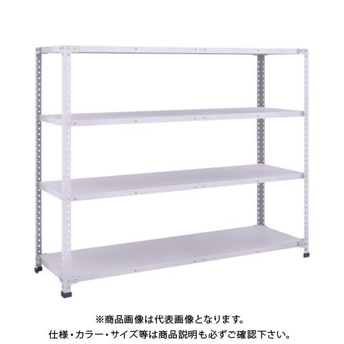【直送品】 TRUSCO 軽量150型ボルトレス棚 1500X450XH1200 4段 TLA45S-14