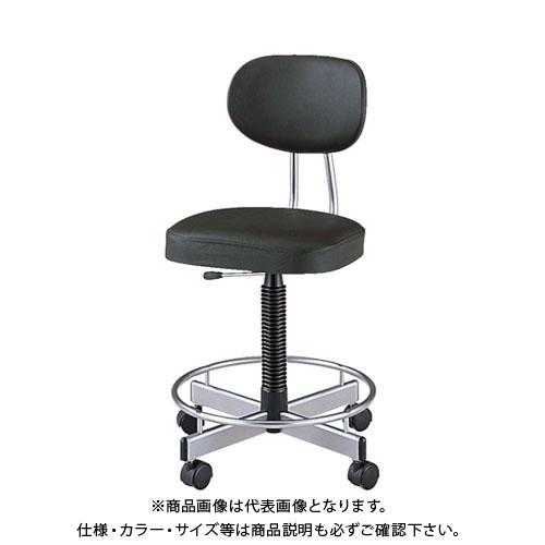 【運賃見積り】【直送品】 ノーリツ 導電オフィスチェア 導電ビニールレザー 肘なし 黒 TL-E17L:BK